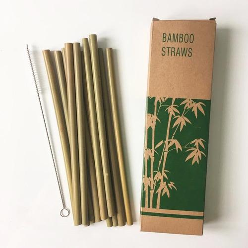 popotes bambú ecológicos reutilizables biodegradables 12pz f