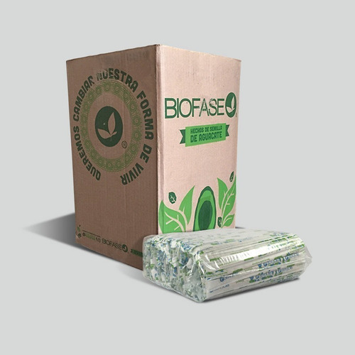 popotes biodegradables biofase estuchado (caja 2000 piezas)