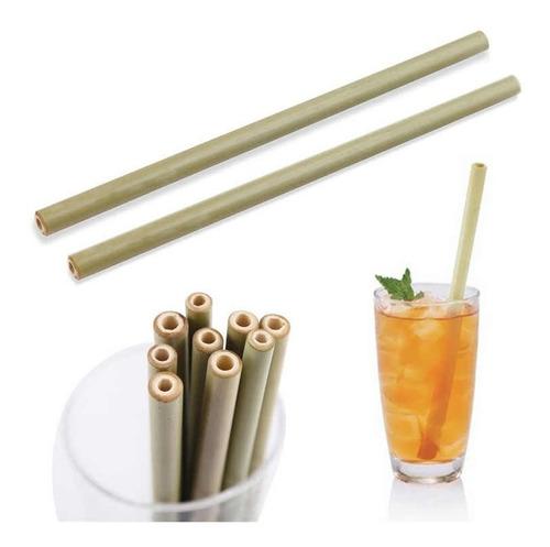popotes ecológicos bambú reutilizables biodegradables 12pz f