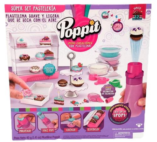 poppit plastilina set super pasteleria tortas donas original