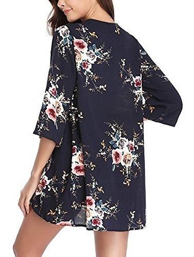 popstore impresión floral pura kimono cabos  rebeca  mujer