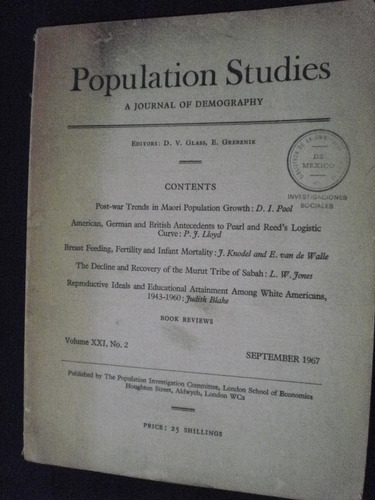 population studies vol. 21 #2