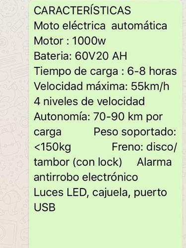por introduccion li das motos electricas hay 5 color disponi