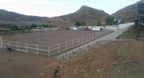 por la carretera aldama , rancho con área para rodeo