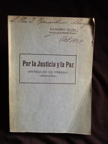 por la justicia y la paz artículos - alejandro vicuña - 1924