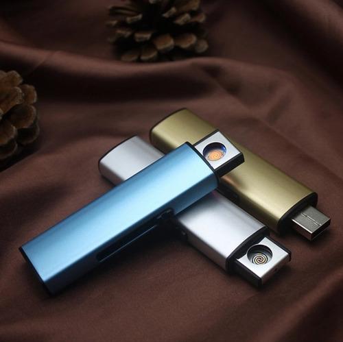 por mayor 4u encendedor electronico usb recargable de metal