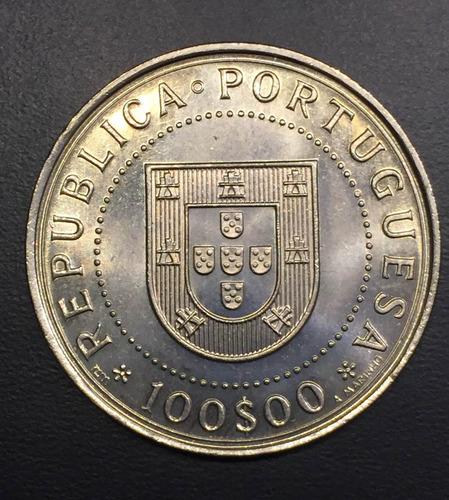 por098 moneda portugal 100 escudos 1990 unc-bu ayff