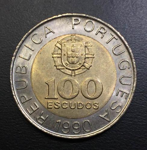 por102 moneda portugal 100 escudos 1990 unc ayff