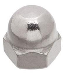 porca calota inox 5mm m5 - inox pacote com 100 peças