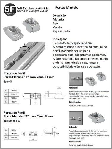 porca martelo (porca t)  - canal 10 / 11