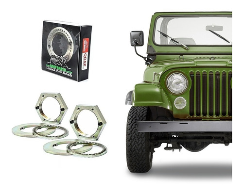 porca x-lock cubo dianteiro - willys (rural/f-75/jeep) - 2un