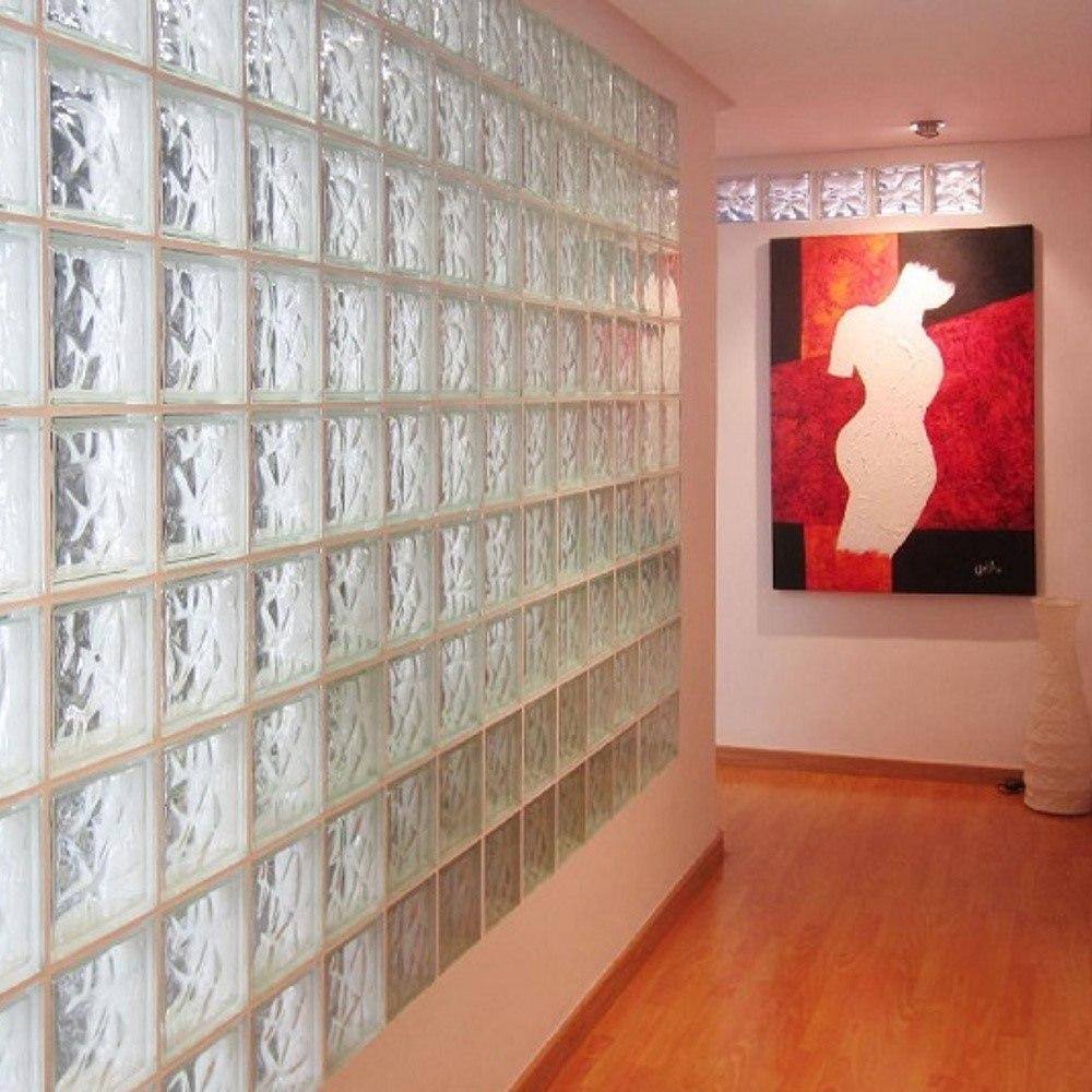 Porcelamika Ladrillo De Vidrio Cloudy Clear 19x19x8 Dh2 99 64  # Muebles Yohanna