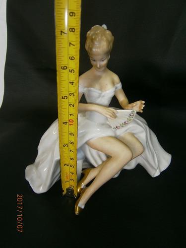 porcelana bavaria niña abanico  - 1764 perfecto estado