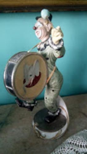 porcelana capodimonte  payaso