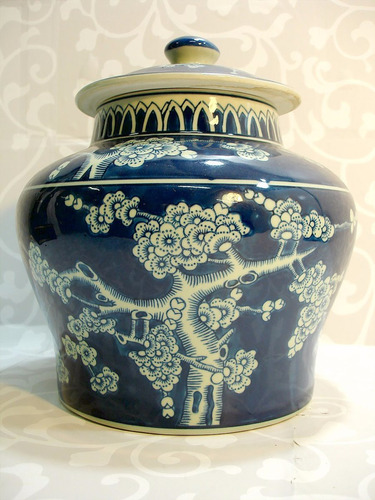 porcelana decoração potiche
