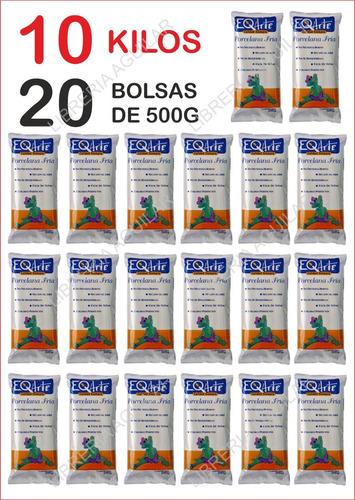 porcelana fria eq arte caja 10 kilos 20 paquetes de 500g