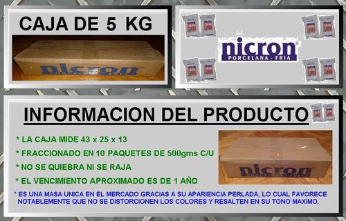 porcelana fria nicron 5kg / 10 paq. de 500g porcelana mora