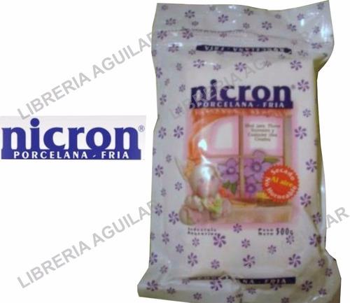 porcelana fria nicron 6 paquetes arcilla en frio