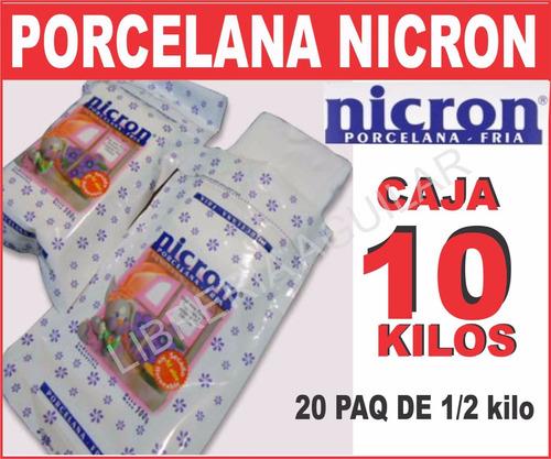 porcelana fria nicron soft nueva masa más liviana p moldes