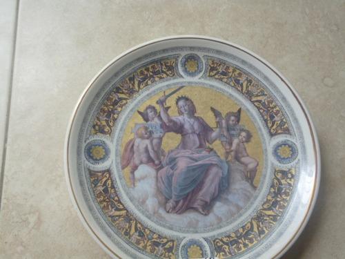 porcelana italiana platos adornos de pared c/u