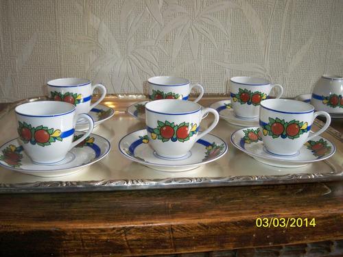 porcelana limoges art deco cafe p/ 10 personas en juego
