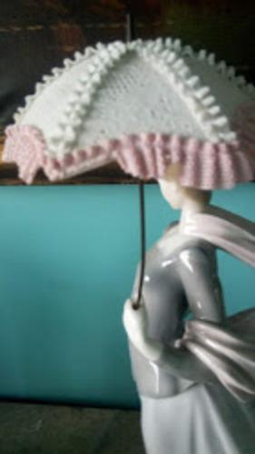 porcelana lladro-spain, dama con sombrilla
