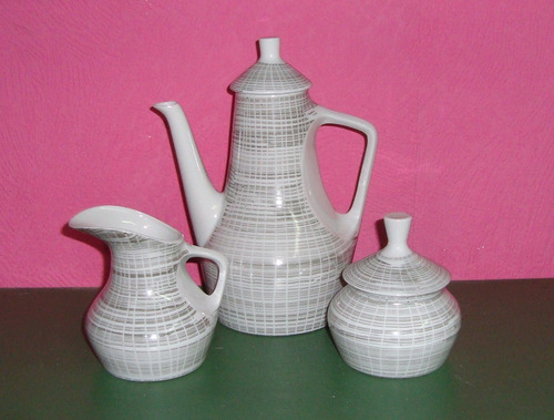porcelana magdalena de juego de cafe para 6 personas