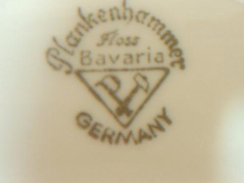 porcelana plankenhammer floss bavaria cenicero vintage