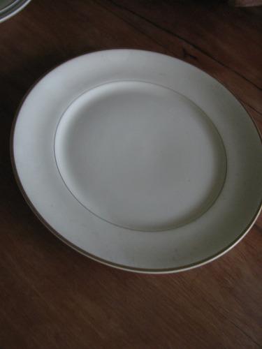 porcelana schmidt ivory prato raso raro cozinha almoço janta