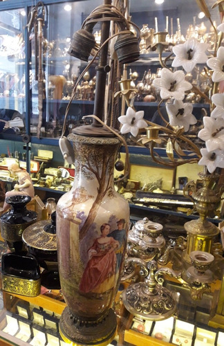 porcelana sevres paul milet l morin jarron lampara france