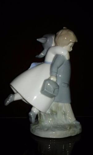 porcelana spain  pareja  18,5 cmtrs