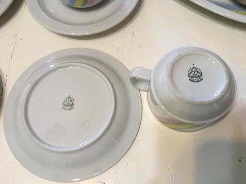 porcelana verbano juego de té