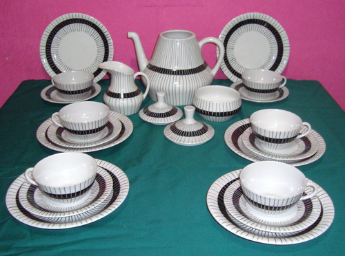 porcelanas magdalena - juego de te para 6 personas c/platos