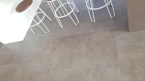 porcelanato 60x120 simil cemento alisado tendenza opciones. precio por metro cuadrado cajas de 1,44m2
