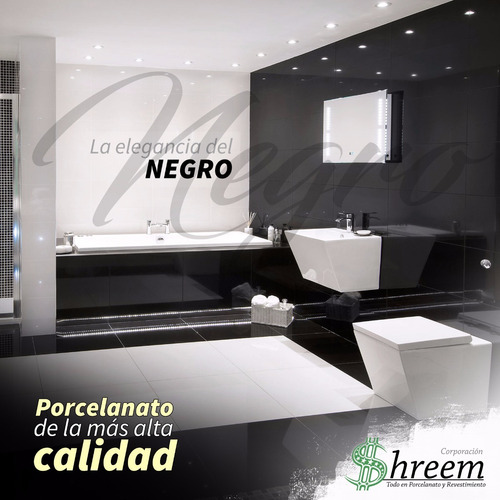 porcelanato 60x60  super negro sal soluble alto brillo