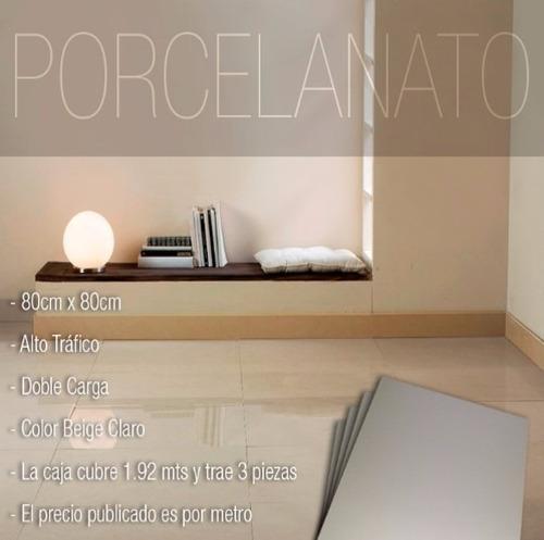 porcelanato 80 x 80 brillante beige pisos paredes importado