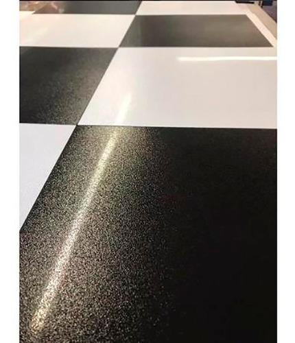 porcelanato damero lux blanco negro 58x58 rectificado sl 2da