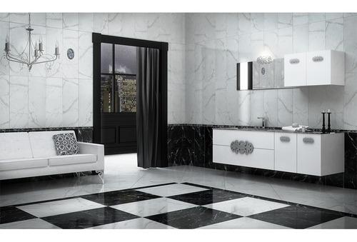 porcelanato europeo 49 x 49 classic marquina negro
