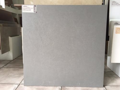 porcelanato gris cemento 60x60 apolo 1ra calidad rectificado