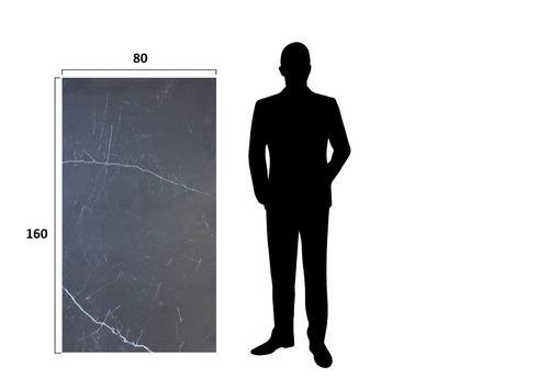 porcelanato lamina marquina 80x160 negro pulido spl