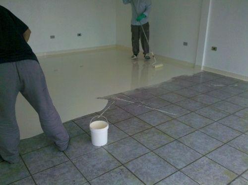 Porcelanato liquido r 150 00 em mercado livre - Pintura para pintar ceramica de piso ...