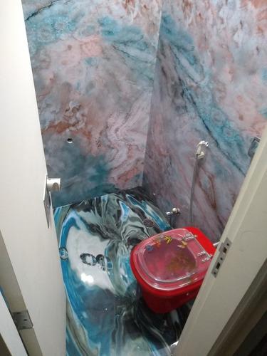 porcelanato liquido em piso, parede, bancadas, pias, escadas