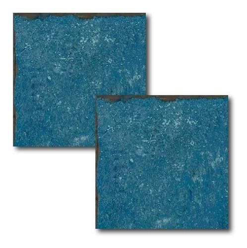 porcelanato para pileta atlantis 20x20 portinari azul mate
