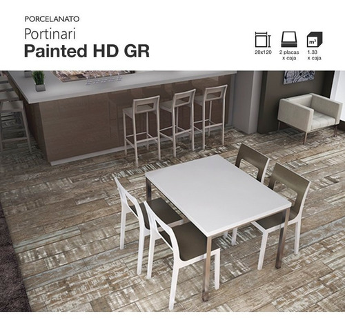 porcelanato portinari simil madera painted hd gr 20x120