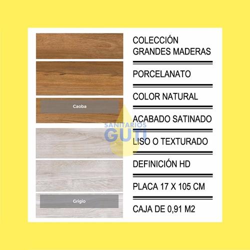 porcelanato rectificado 17x105 san pietro madera naturale