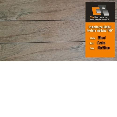 porcelanato retif. 15x90 linha wood   hd   vários padrões