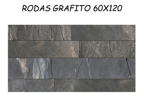porcelanato simil piedra cerro negro rodas 60x120 1ra