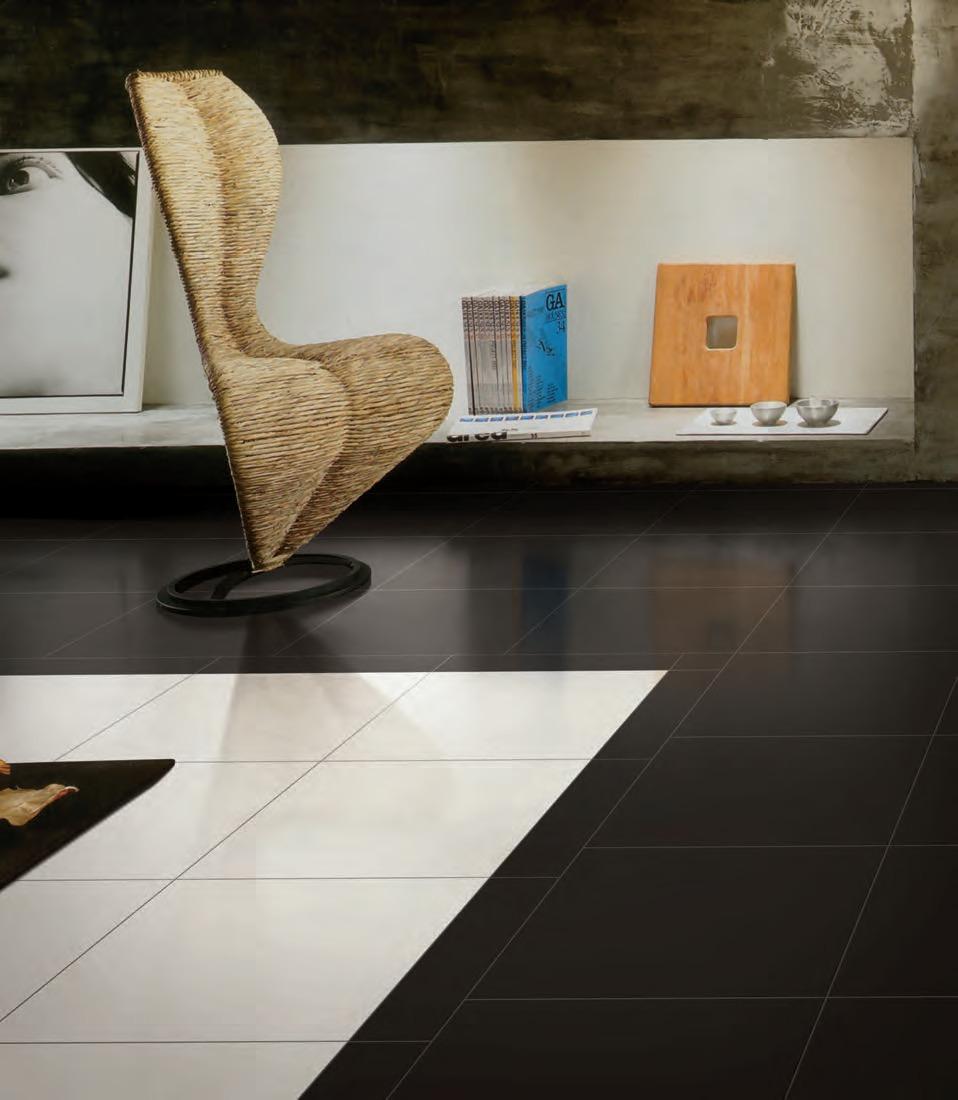 Porcelanato unicolor blanco negro y gris super brillo - Piso blanco y gris ...