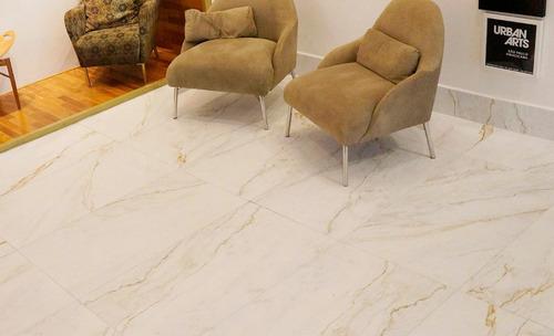 porcelanato villagres 61x106,5 calacata marmol oro pulido