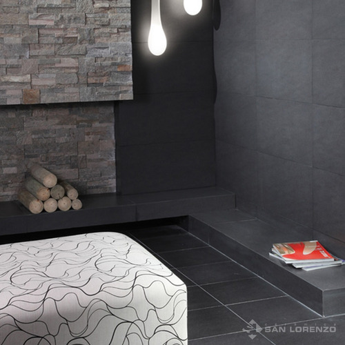 porcellanato basalt nero semipulido 28x57.7 san lorenzo 1°ca